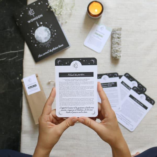 Cartes de rituels pour la pleine lune Womoon