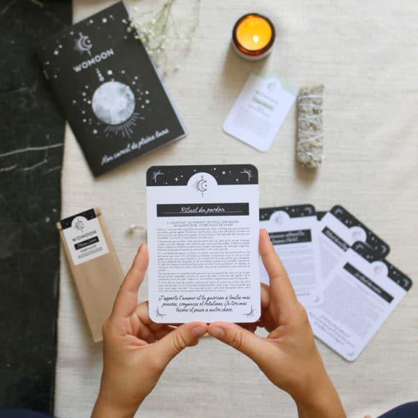 cartes de rituels pour la pleine lune