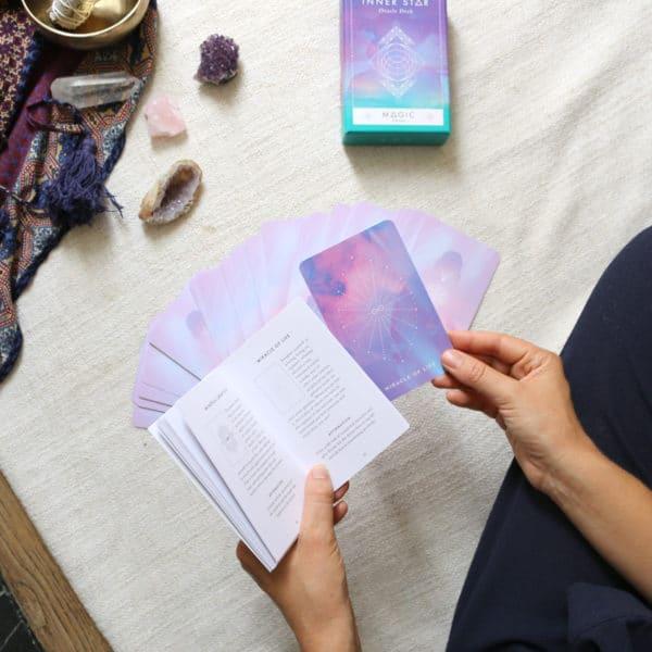 Jeu de cartes oracle inner star et guide de lecture pour les cartes