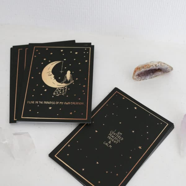 Jeu de cartes affirmations positives dreamy moons france