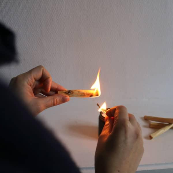 Utiliser le palo santo en fumigation pour ses rituels de lune