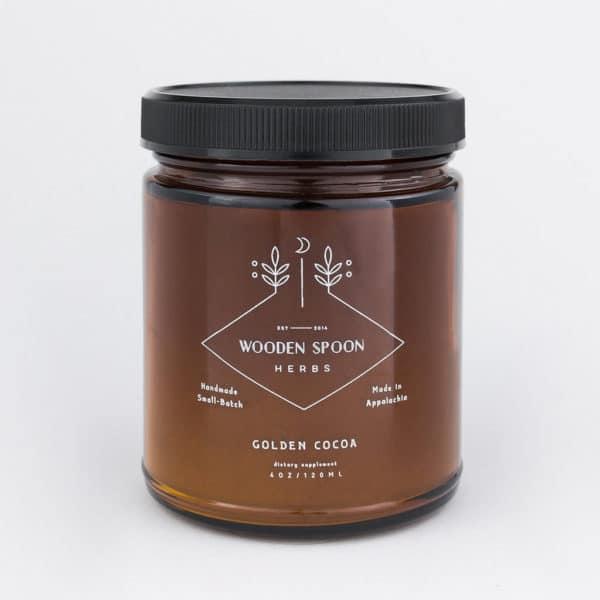 Golden Cocoa Wooden Spoon Herbs sur Womoon