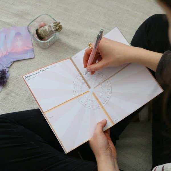 Cadran lunaire diagramme lunaire cycle menstruel womoon