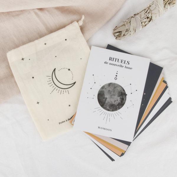 cartes rituels de lune womoon nouvelle lune pleine lune