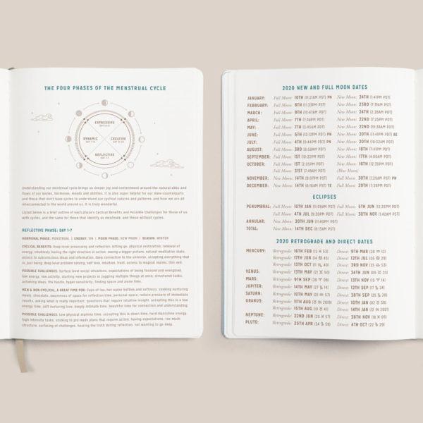 Agenda 2020 phases lunaires cycle menstruel