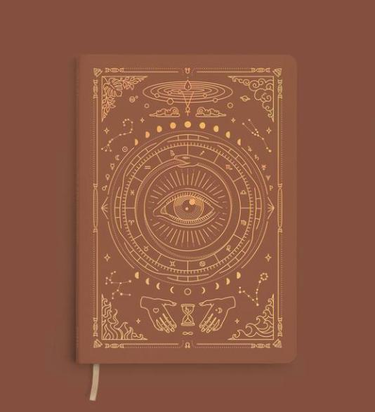 Carnet journaling magic of i marron foncé
