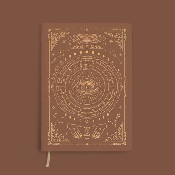 carnet journaling marron foncé magic of I france