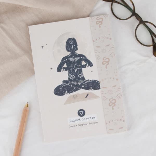 carnets de notes womoon élément eau astrologie cancer scorpion poissons