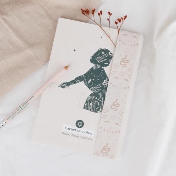 carnets de notes womoon élément terre astrologie taureau vierge capricorne