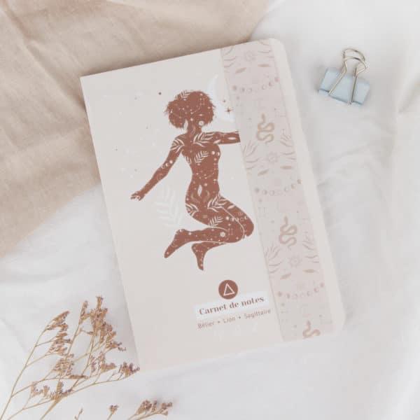 carnets de notes womoon élément feu astrologie bélier lion sagittaire
