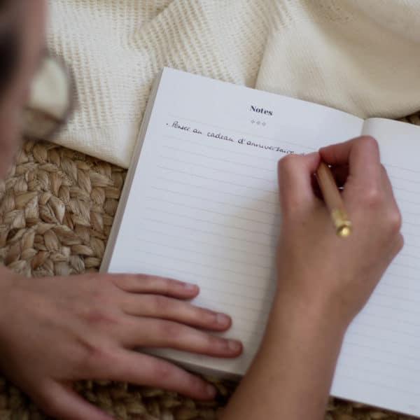 Journaling pages notes agenda spirituel 2021 Womoon