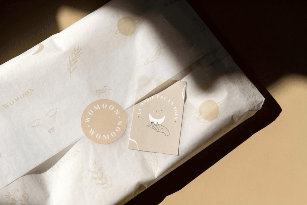 papier cadeau recycle womoon