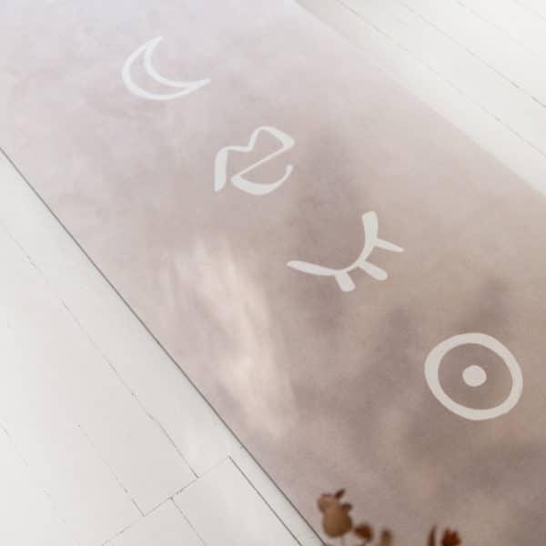 tapis yoga méditation beige womoon