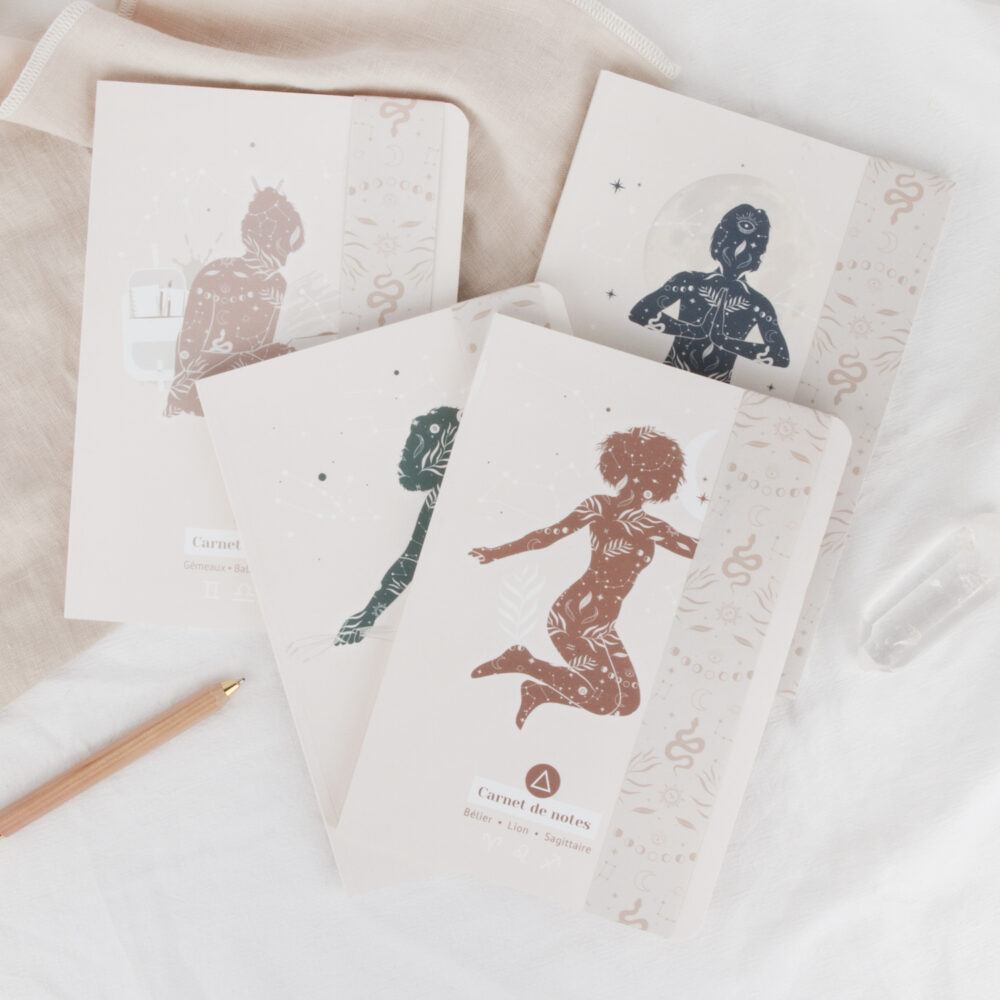 carnets de notes womoon éléments astrologie